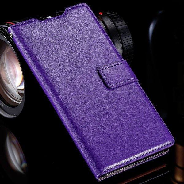 Z3 Flip Wallet Case Retro Pu Leather Cover For Sony-Ericsson Xperi 32284532711-5-purple