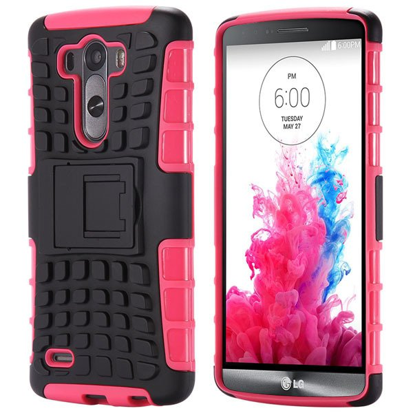 G3 Hybrid Case Heavy Duty Armor Cover For Lg G3 D850 D855 Slim Bac 32274379695-4-pink