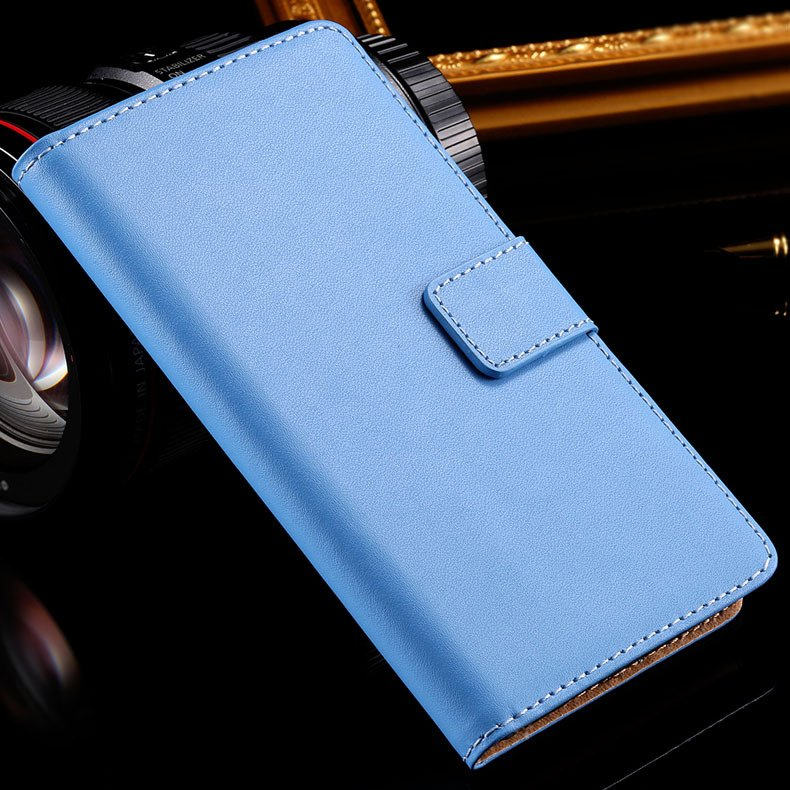 Z3 Wallet Leather Case With Magnetic Buckle For Sony-Ericsson Xper 32276680677-3-blue