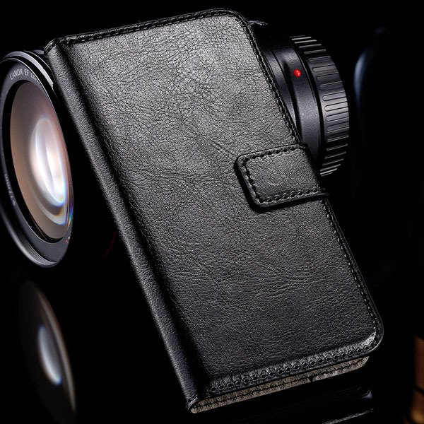 M2 Luxury Pu Leather Case Flip Wallet Book Cover For Sony Xperia M 32283749003-1-black