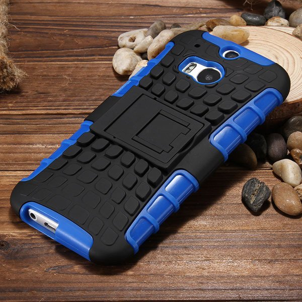 M8 Armor Case Tpu&Pc Plastic Heavy Duty Armor Cover For Htc One M8 32295652729-4-blue