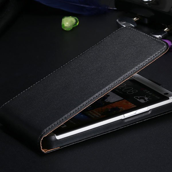 M7 Genuine Leather Cover Flip Mobile Phone Case For Htc One M7 Ful 32269961689-1-black