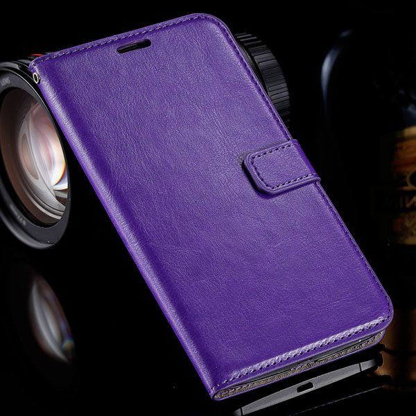 For Nexus 6 Flip Wallet Case Pu Leather Cover For Motorola Google  32284888066-4-purple
