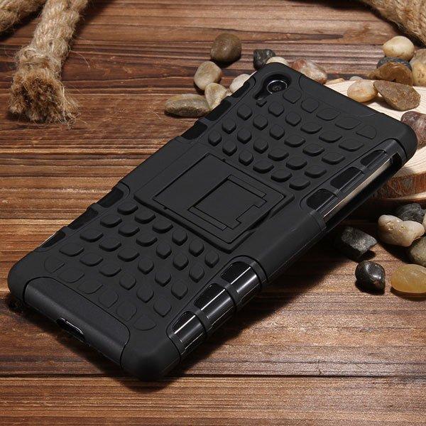 Z2 Heavy Duty Case Armor Cover For Sony Xperia Z2 L50W 6502 Hybrid 32274479604-3-black