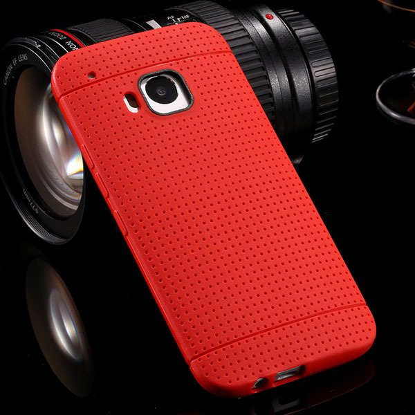 M9 Flexible Silicone Case Soft Tpu Protect Cover For Htc One M9 Ru 32302707840-3-red