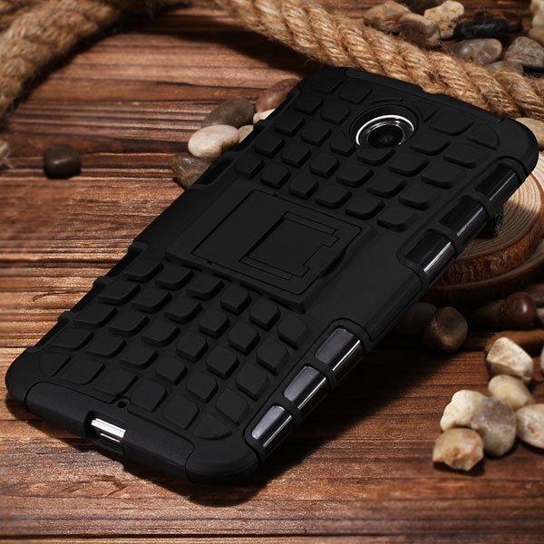 For Nexus 6 Heavy Duty Armor Case For Motorola Moto Google Nexus 6 32295072447-7-black