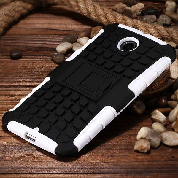 For Nexus 6 Heavy Duty Armor Case For Motorola Moto Google Nexus 6 32295072447-8-white