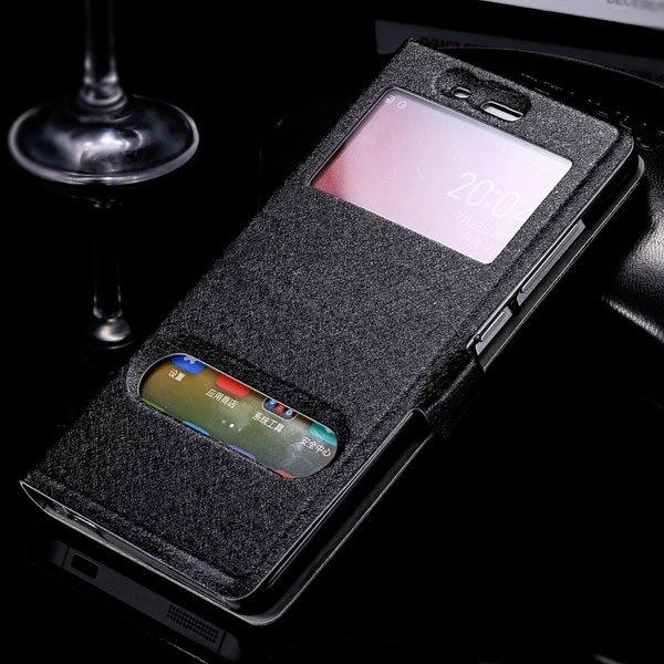 M4 Luxury Pu Leather Case Free Answer Dual Window Display View Cov 32283802278-1-black