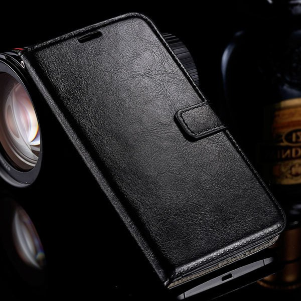 For Nexus 6 Luxury Pu Leather Case Pouch Wallet Book Cover For Mot 32284872314-1-black