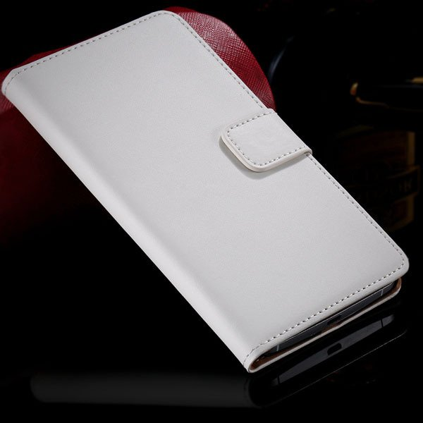 For Nexus 6 Genuine Leather Case Wallet Book Cover With Card Inser 32275625212-2-white