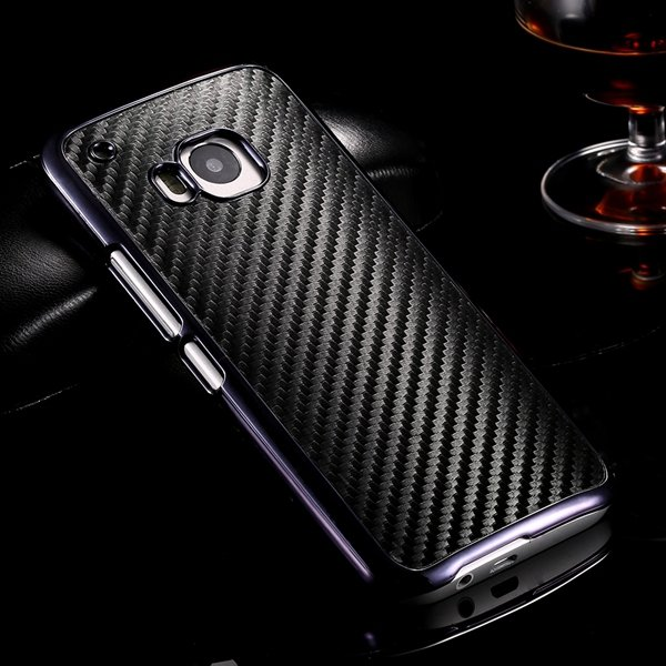 M9 Plating Microfiber Case With Chromed Metallic Frame For Htc One 32304730204-1-black