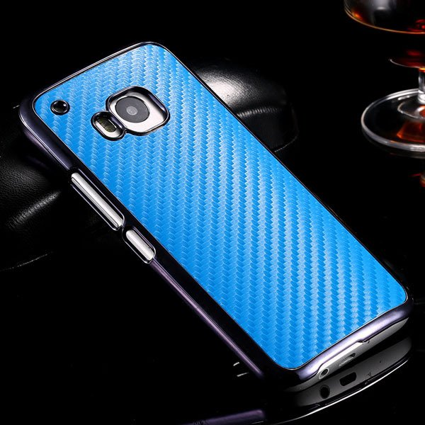 M9 Luxury Carbon Fiber Case With Chromed Metallic Plating Frame Ed 32304891410-3-blue