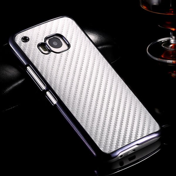 M9 Luxury Carbon Fiber Case With Chromed Metallic Plating Frame Ed 32304891410-4-silver