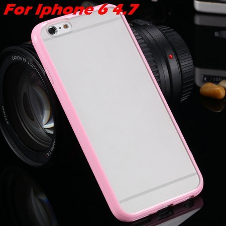New Arrival Slim Colorful Tpu Clear Case For Iphone 6 4.7'' Phone  2018245815-7-pink For Iphone 6