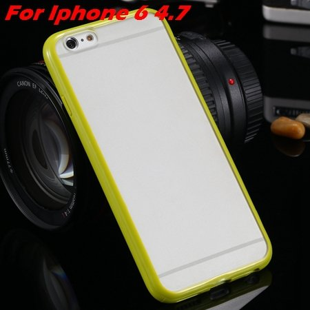 New Arrival Slim Colorful Tpu Clear Case For Iphone 6 4.7'' Phone  2018245815-8-grass green For I6