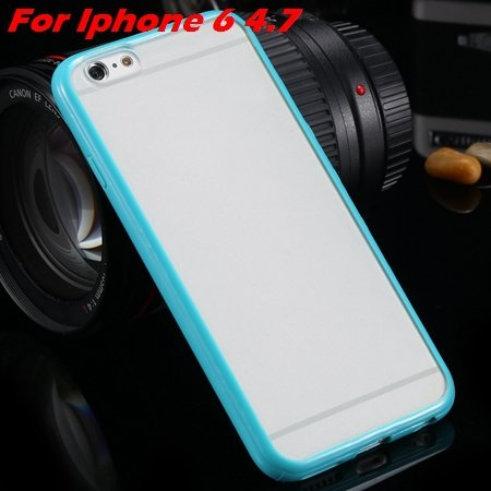 New Arrival Slim Colorful Tpu Clear Case For Iphone 6 4.7'' Phone  2018245815-9-light green For I6
