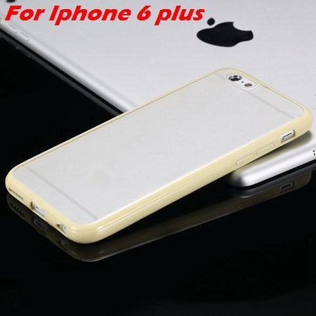 New Arrival Slim Colorful Tpu Clear Case For Iphone 6 4.7'' Phone  2018245815-18-Yellow For I6 Plus