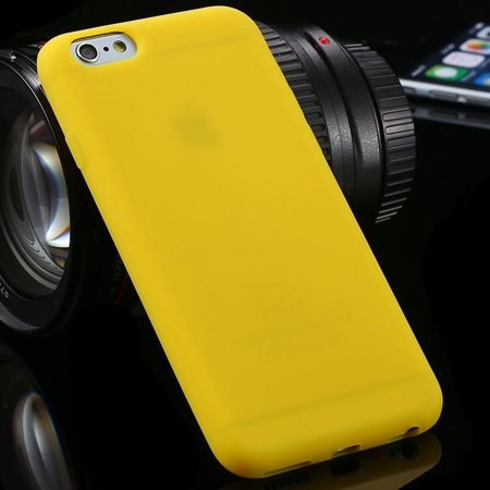 "New Arrival Cute High Quality Silicone Soft Case For Iphone 6 4.7"""" 2051298000-8-Yellow"