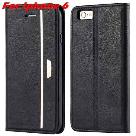 Luxury Fashion High Quality Leather Case For Iphone 6 Flip Case St 2055637345-6-Black For Iphone 6