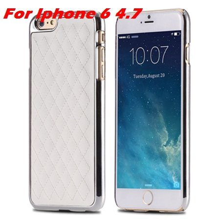 Newest Luxury Retro Gold Pc Plating Linear Ex Case For Iphone 6 4. 32226725265-4-I6 White and Sliver