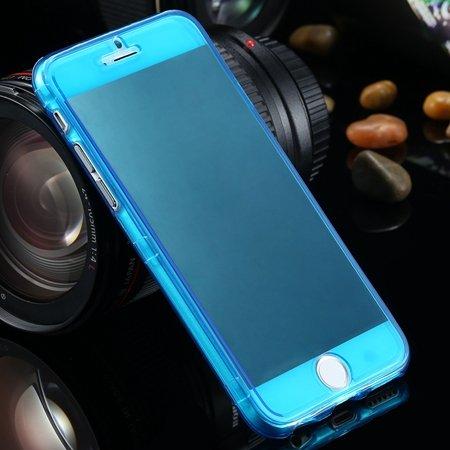"Ultra Light Transparent Slim Tpu Soft Flip Case For Iphone 6 4.7""""  2032639495-4-Blue"