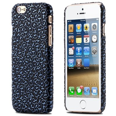Super Luxury Classic 3D Flower Case For Iphone 6 Leather Case Pu H 32258483499-4-Blue