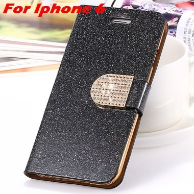 For Iphone 6 Case Gold Luxury Bling Diamond Leather Case For Iphon 32258181305-2-Black For Iphone 6