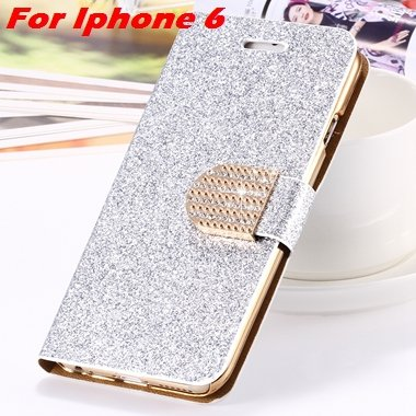 For Iphone 6 Case Gold Luxury Bling Diamond Leather Case For Iphon 32258181305-5-Sliver For Iphone 6