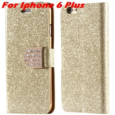 For Iphone 6 Case Gold Luxury Bling Diamond Leather Case For Iphon 32258181305-9-Gold For I6 Plus