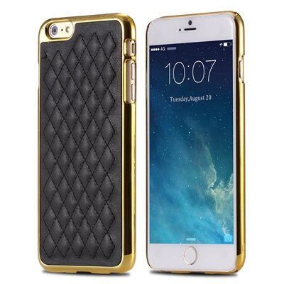 "Retro Luxury Pc Plating + Pu Leather Case For Iphone 6 4.7 """" Soft  32256589583-1-Black and Gold"