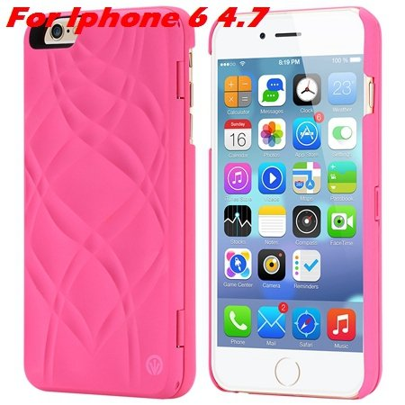Fashion Lady Necessary 3D Water Flip Pu Leather Case For Iphone 6  32282429199-3-Hot Pink For Iphone
