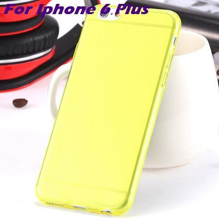 0.3Mm Ultra Thin Silicon Soft High Clear Case For Iphone 6 Crystal 32245374718-7-Yellow For I6 plus