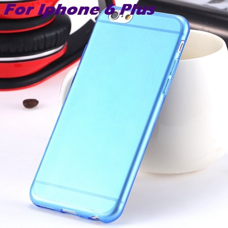 0.3Mm Ultra Thin Silicon Soft High Clear Case For Iphone 6 Crystal 32245374718-8-Blue For I6 plus