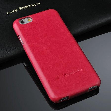 For Iphone 6 Hard Case Retro Luxury Slim Skin Pu Leather Case For  2045529447-4-Hot Pink