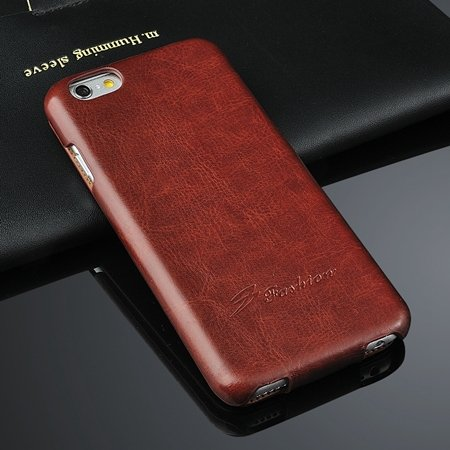 For Iphone 6 Hard Case Retro Luxury Slim Skin Pu Leather Case For  2045529447-5-Brown