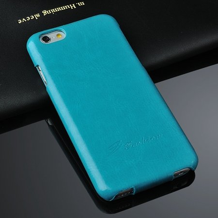 For Iphone 6 Hard Case Retro Luxury Slim Skin Pu Leather Case For  2045529447-6-Sky Blue