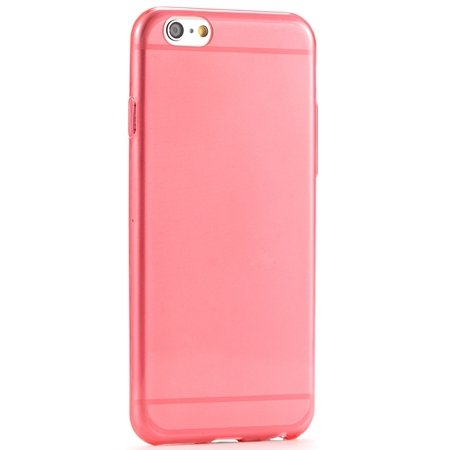 Pure Simple Flexible Transparent Soft Tpu Case For Iphone 6 4.7Inc 2039047120-9-Red