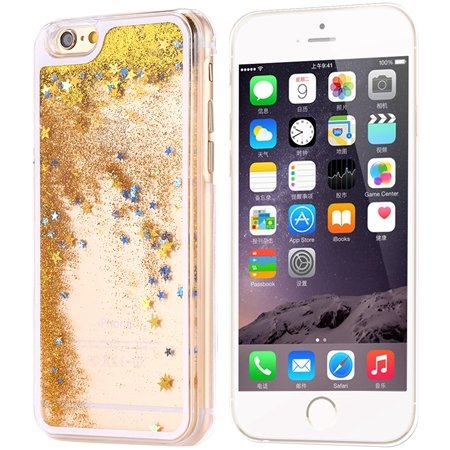 Cool Luxury Top Quality Oil Quicksand Pc Hard Case For Iphone 6 4. 32275053524-4-Yellow Star