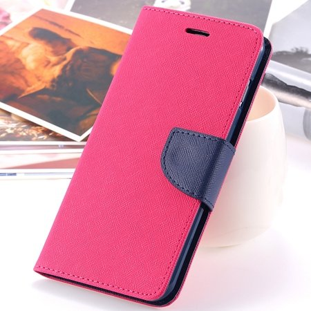 """Retro Fashionable Flip Pu Leather Case For Iphone 6 Case 4.7"""""""" Luxu 2028613606-3-Hot Pink"""