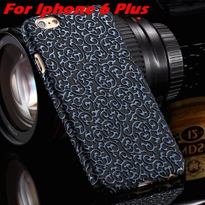 Cute Lovely Classic Palace 3D Flower Pu Leather Case For Iphone 6  32258157872-4-Blue For I6 Plus