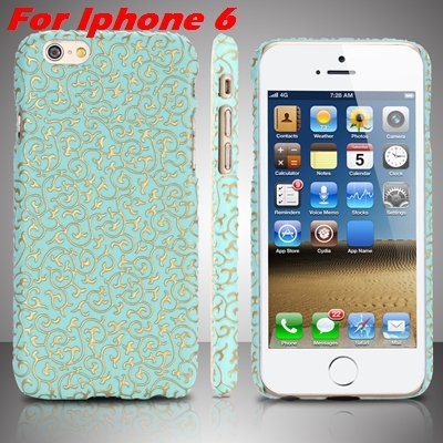 Cute Lovely Classic Palace 3D Flower Pu Leather Case For Iphone 6  32258157872-10-Green For Iphone 6