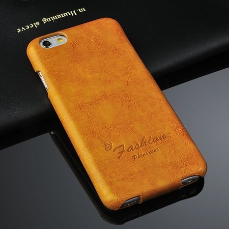 Retro Luxury Oil Wax Soft Pu Leather Case For Iphone 6 4.7Inch Fli 2045594722-1-Yellow