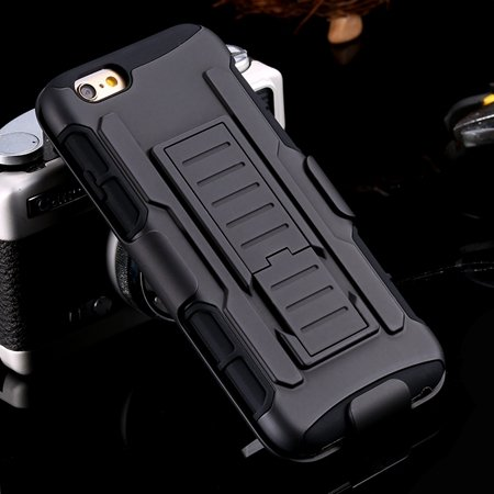 2015 New Cool Sexy Impact Belt Clip Hybrid Armor Case For Iphone 6 32278194724-1-Black