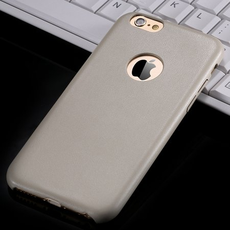 For Iphone 6 Hard Back Original Case Gold Luxury Pu Leather Case F 32271719815-3-Cream