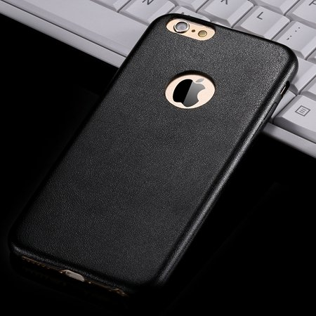 For Iphone 6 Hard Back Original Case Gold Luxury Pu Leather Case F 32271719815-4-Black