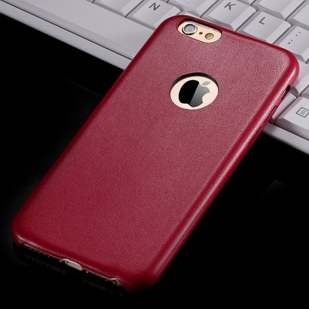 For Iphone 6 Hard Back Original Case Gold Luxury Pu Leather Case F 32271719815-5-Red