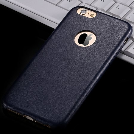 For Iphone 6 Hard Back Original Case Gold Luxury Pu Leather Case F 32271719815-7-Blue
