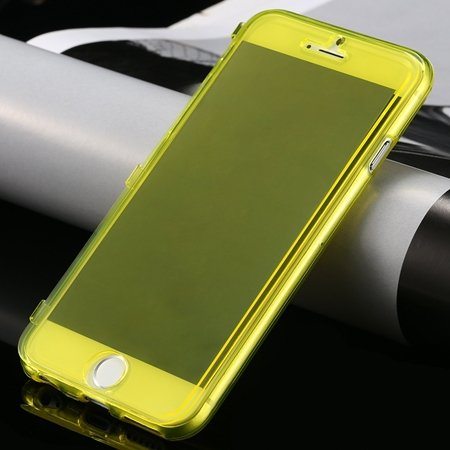 New Arrival Ultra Thin High Quality Flip Soft Tpu Case For Iphone  32226505236-5-Yellow