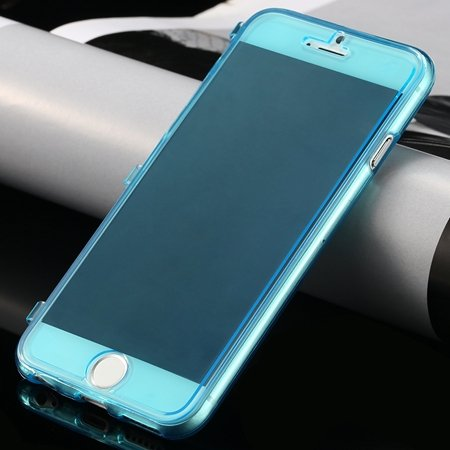 New Arrival Ultra Thin High Quality Flip Soft Tpu Case For Iphone  32226505236-6-Light Blue