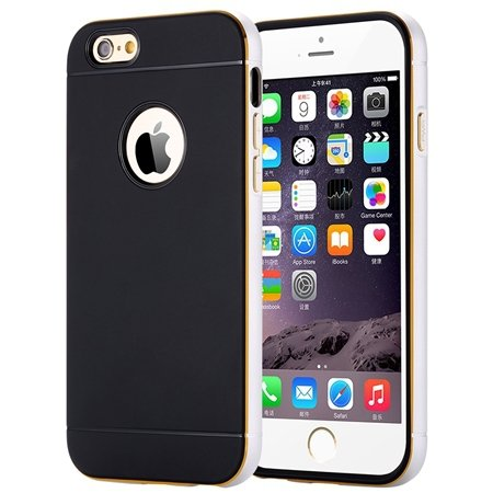 Luxury Simple Aluminum Ex Linear Frame Case For Iphone 6 4.7Inch H 32264423173-1-Sliver